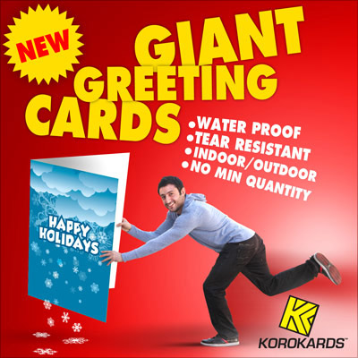 Giant Coroplast Greeting Cards